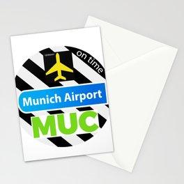 MUC MUNICH STICKER Stationery Cards