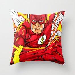 The flash fan art Throw Pillow
