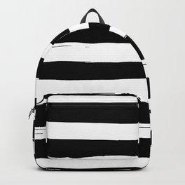 Black and White Stripe Grunge Flag Design Backpack