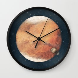 The Red Planet Wall Clock
