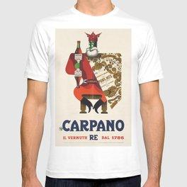 Vintage Armando Testa Carpano Vermouth Ad Print No. 1 T-shirt