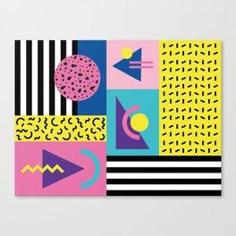 Memphis pattern 53 - 80s / 90s Retro Canvas Print