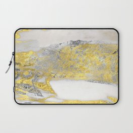 Silver and Gold Marble Design Laptop Sleeve