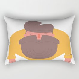 The homo hipstericus - a hipsters story Rectangular Pillow