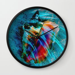 Junkanoo Conch Blue Wall Clock