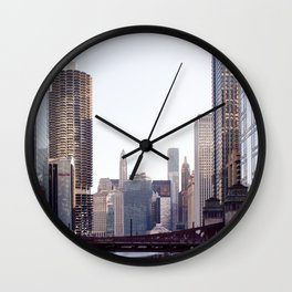 Chicago River Skyline Wall Clock