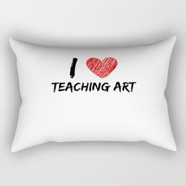 I Love Teaching Art Rectangular Pillow
