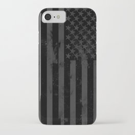 Black American Flag iPhone Case