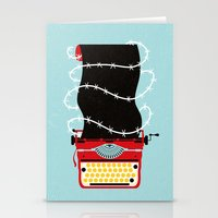 write Stationery Cards featuring Typer Write by Dorian Danielsen