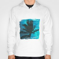 swimming Hoodies featuring Swimming Palm by Catspaws
