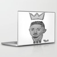 kendrick lamar Laptop & iPad Skins featuring King Kendrick by Alonzo Mornin