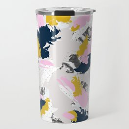 Strokes and abstract textures Travel Mug