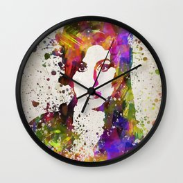 AmyWinehouse In Color Wall Clock