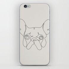 One Line French bulldog iPhone & iPod Skin