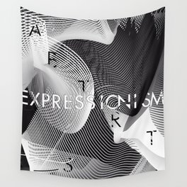 History of Art in Black and White. Expressionism Wall Tapestry