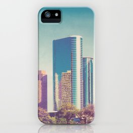 Downtown Houston Panorama iPhone Case