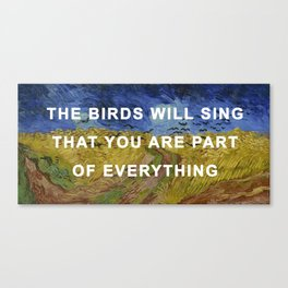 Prudence with Crows Canvas Print