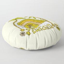 stay golden sun child //retro surf art by surfy birdy Floor Pillow