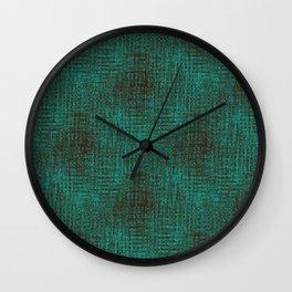 dark textile pattern Wall Clock