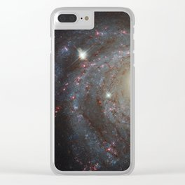 Spiral Galaxy NGC 3344 Clear iPhone Case