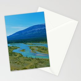 Looking over the Athabasca River on the east end of Jasper National Park, Canada Stationery Cards