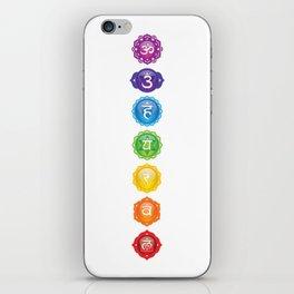 7 Chakra Symbols iPhone Skin