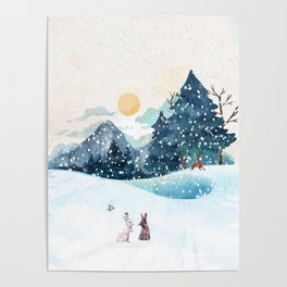 Happy Litlle Wildlife Poster
