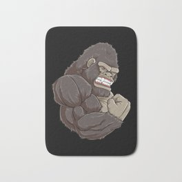 Gorilla At The Gym | Fitness Training Muscles Bath Mat