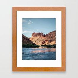 Cathedral Rocks on the River Framed Art Print