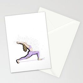 Yoga girls - warrior pose Stationery Cards