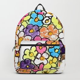 Fawn in a flowers heart Backpack