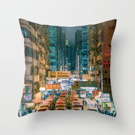 Mong Kok, Hong Kong Throw Pillow
