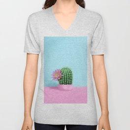 Cactus Flower Serie 1 Unisex V-Neck