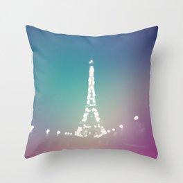 Paris Love In Color Throw Pillow