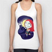 nightmare before christmas Tank Tops featuring Sally from Nightmare before Christmas  by Piccolinart