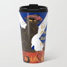 Le Chat Burns Nuit Haggis Dram Scottish Saltire Travel Mug