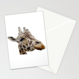 Nosey Giraffe looking at you. Stationery Cards