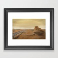Long Road Ahead Framed Art Print