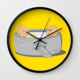 Eggs Jacuzzi Wall Clock