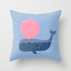 Blubber Gum Throw Pillow