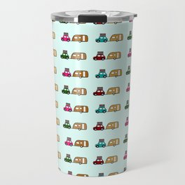 Car with caravan Travel Mug
