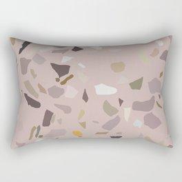 Pink Terrazzo Marble Rectangular Pillow