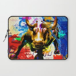 Wall Street Bull Painted Laptop Sleeve