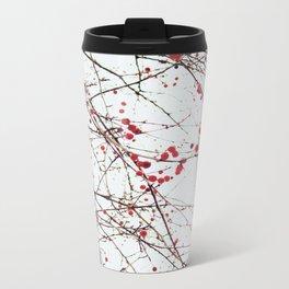 Winter Berries Metal Travel Mug