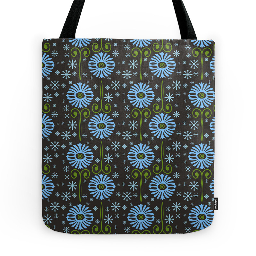 Retro Blues Tote Purse by susanweller (TBG7453326) photo