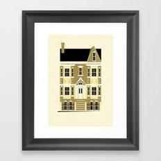 A house (olive option) Framed Art Print