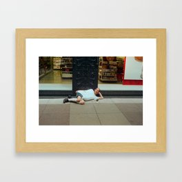Laying Larry Framed Art Print