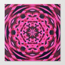Magenta Sixth Sense Mandala Canvas Print