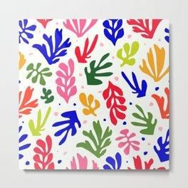 Floral Matisse pattern Metal Print