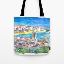 St Ives Harbour Blue & Turquoise in Cornwall England Tote Bag